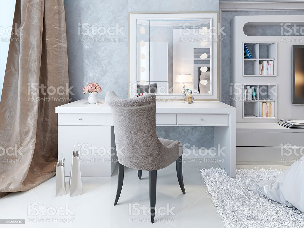 Dressing table Art Deco style stock photo