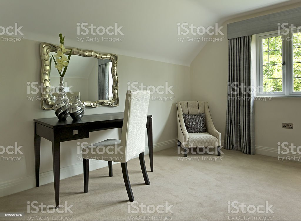 dressing table or writing desk royalty-free stock photo