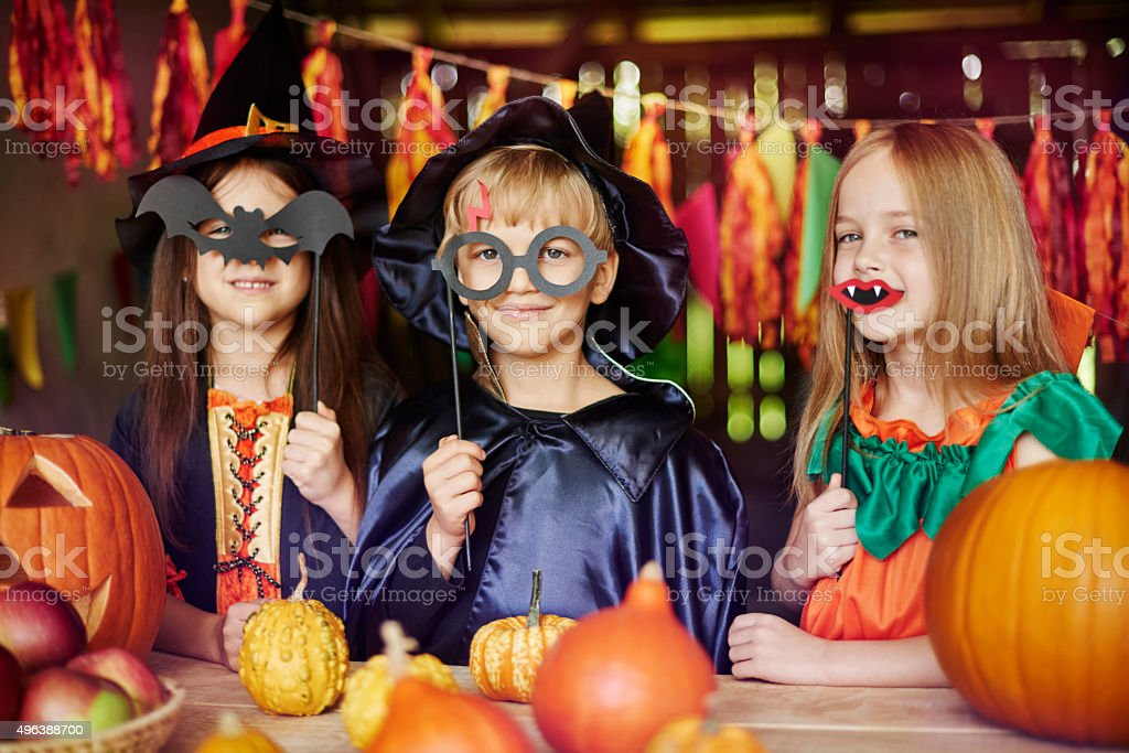 Dressing up is children's favorite game stock photo