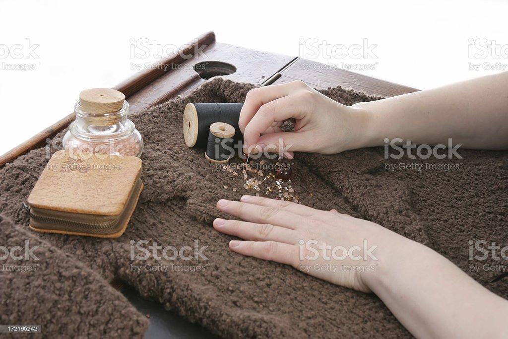 dressmaker at work royalty-free stock photo