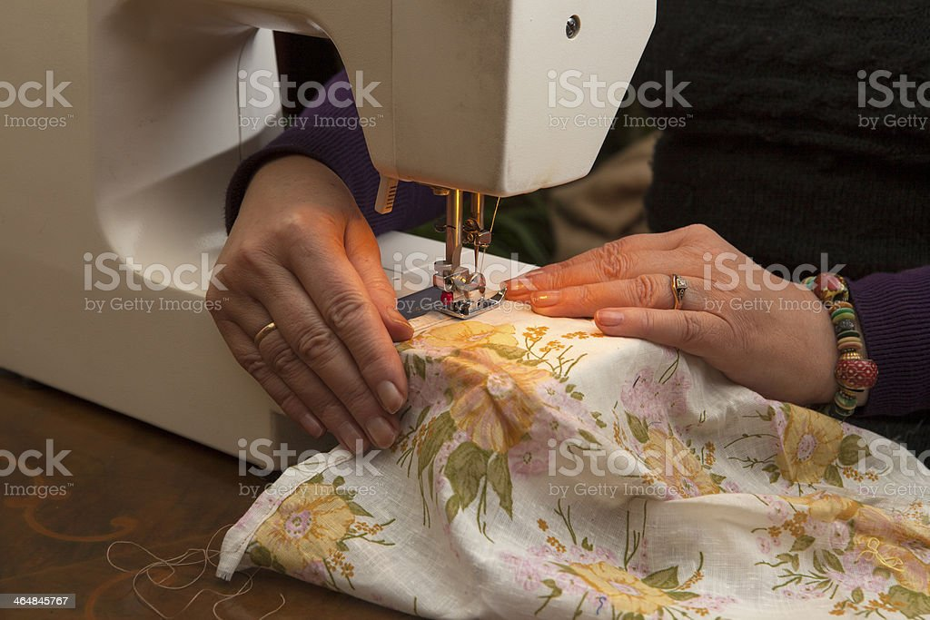 Dressmaker at work royalty-free stock photo