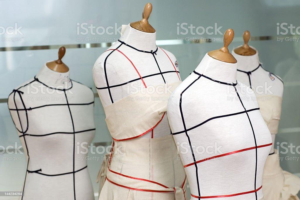 Dressmaker model stock photo