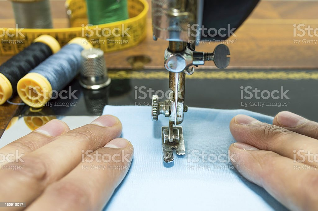 dressmaker working royalty-free stock photo