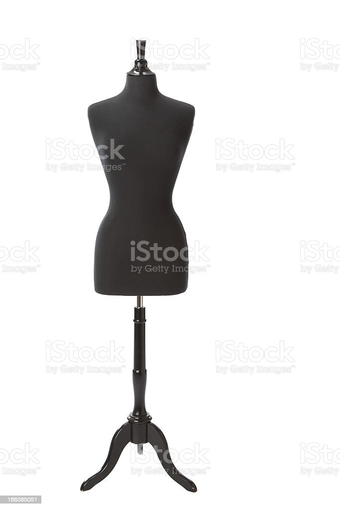 Dressmaker's female fashion mannequin on white stock photo