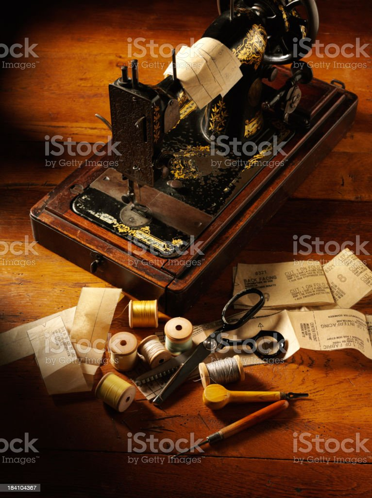 Dressmakers Pattern on a Sewing Machine royalty-free stock photo