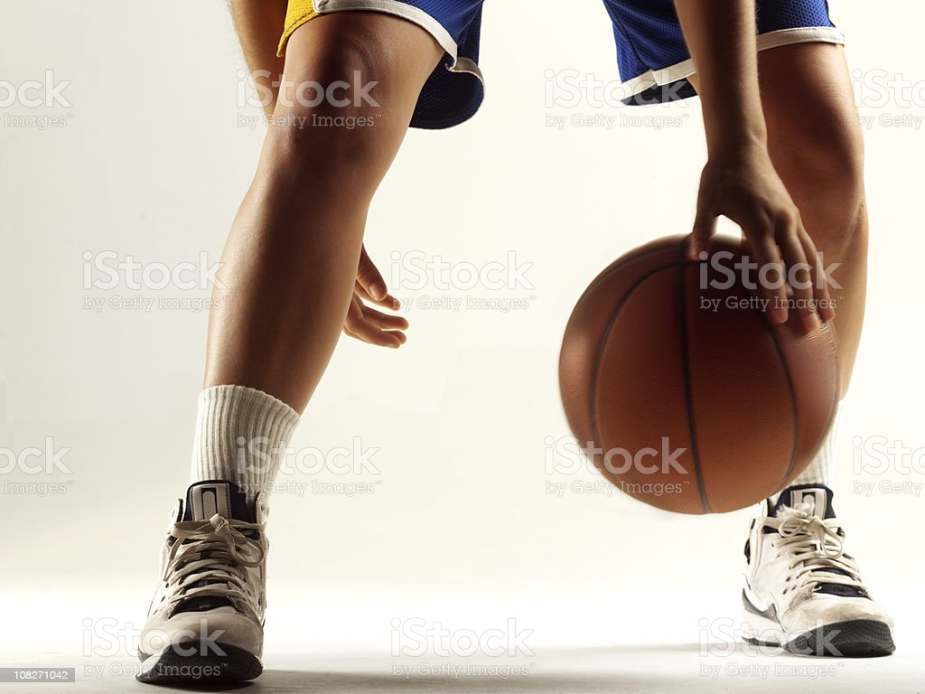 Dribbling Basketball royalty-free stock photo