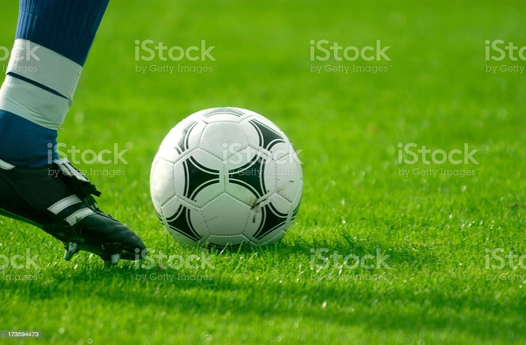 dribbling the ball royalty-free stock photo