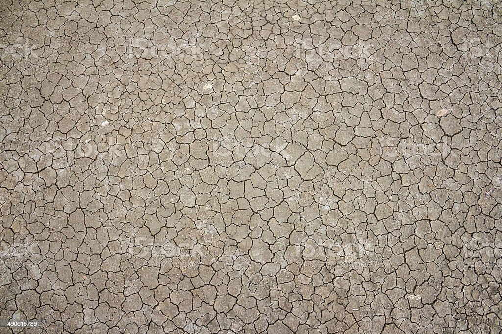 Dried and Cracked ground stock photo
