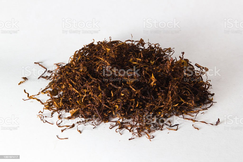 Dried and cut tobacco royalty-free stock photo
