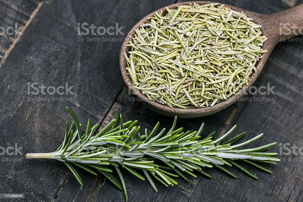 Dried and fresh rosemary royalty-free stock photo