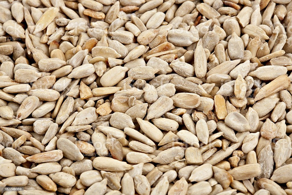 Dried And Salted Sunflower Seeds stock photo
