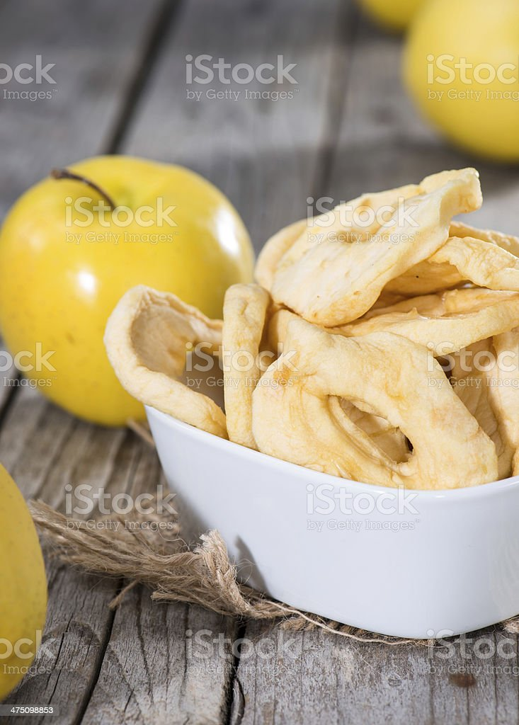 Dried Apple Rings stock photo