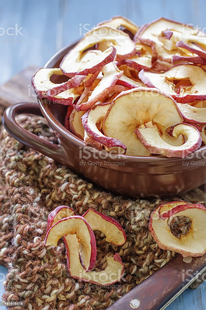 Dried apples royalty-free stock photo