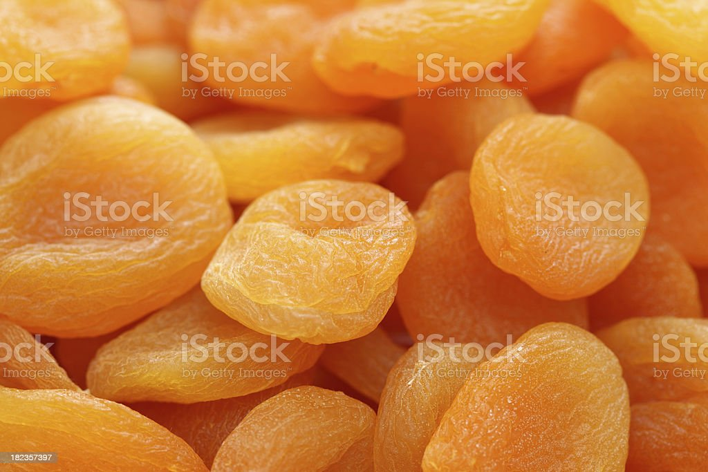Dried appricots stock photo