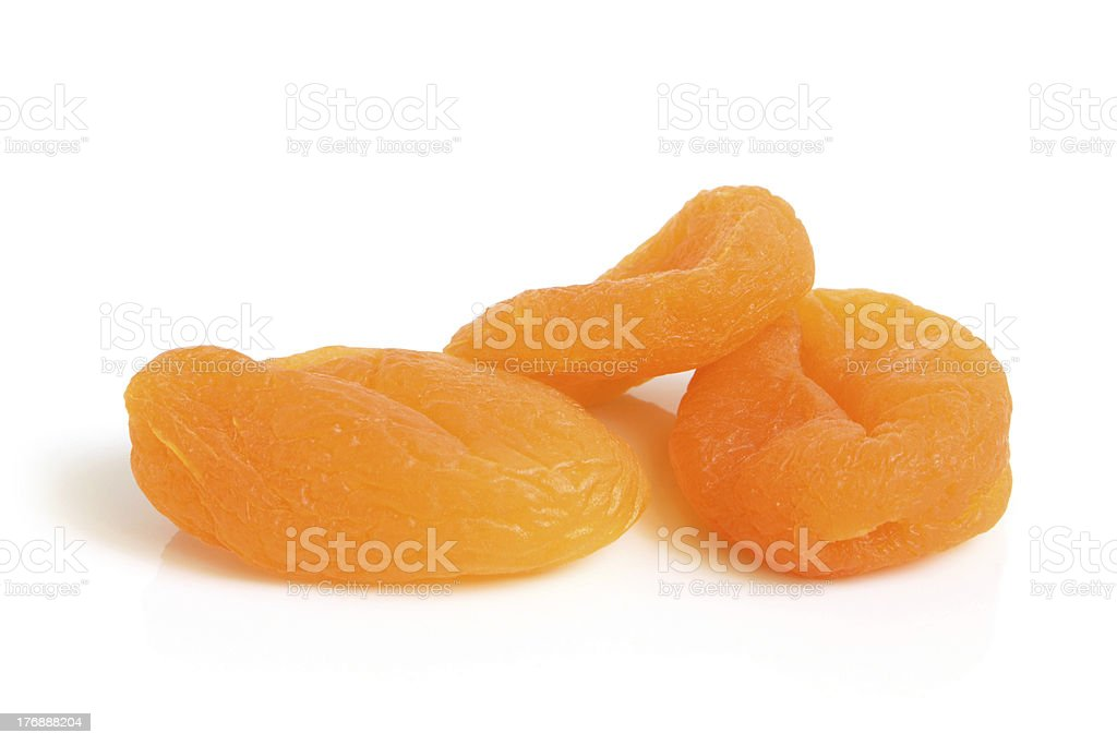 Dried apricots stock photo