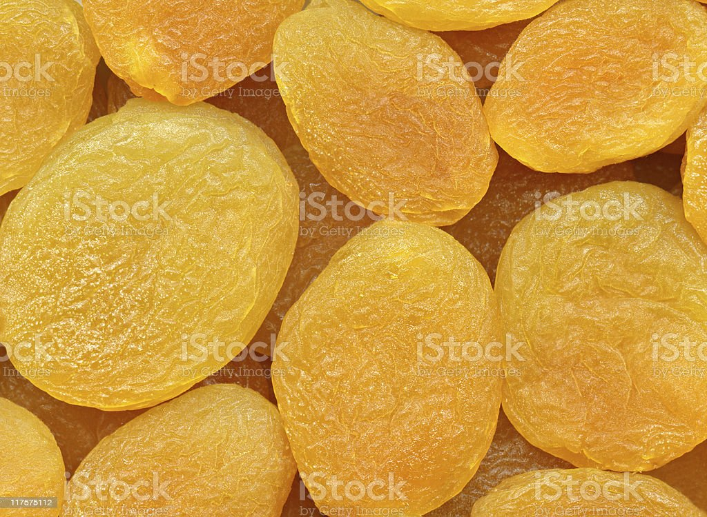 Dried apricots, texture stock photo
