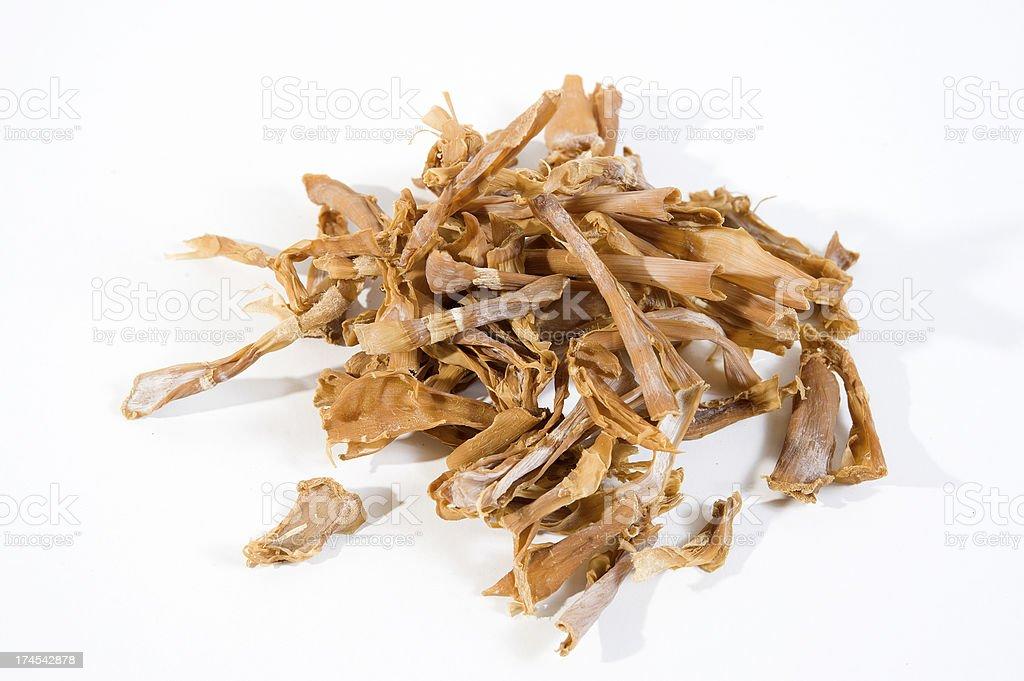 Dried bamboo shoots royalty-free stock photo