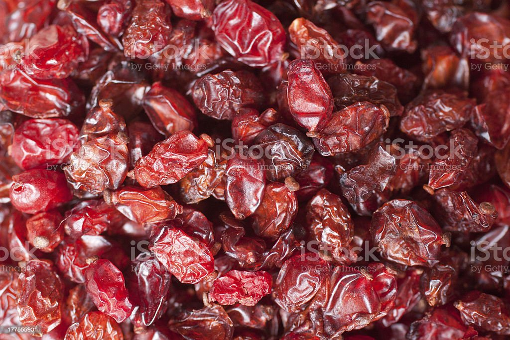Dried barberry berries royalty-free stock photo