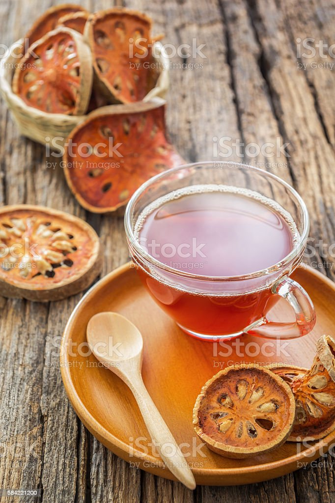 Dried beal fruit juice stock photo