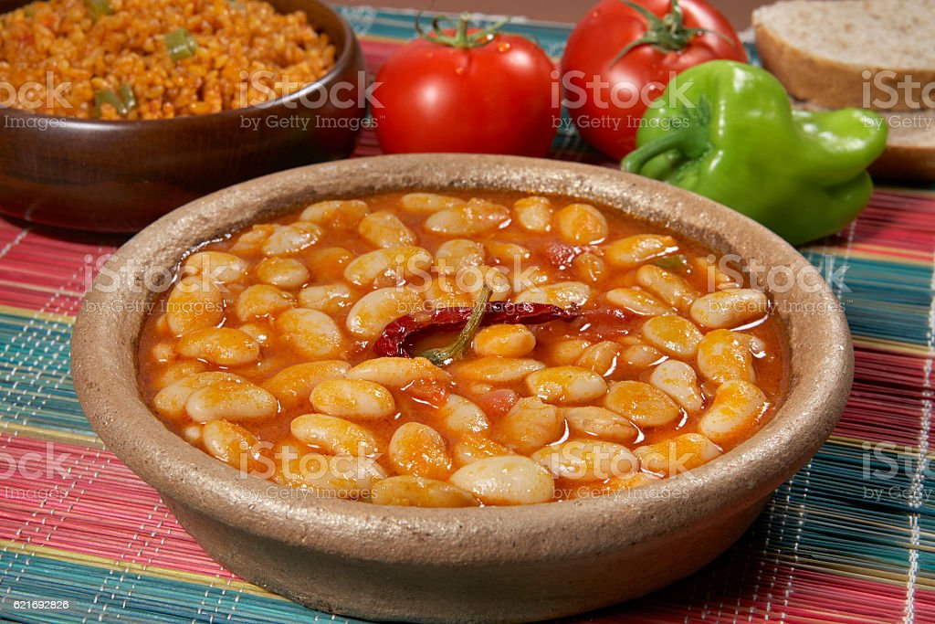 Dried beans stock photo