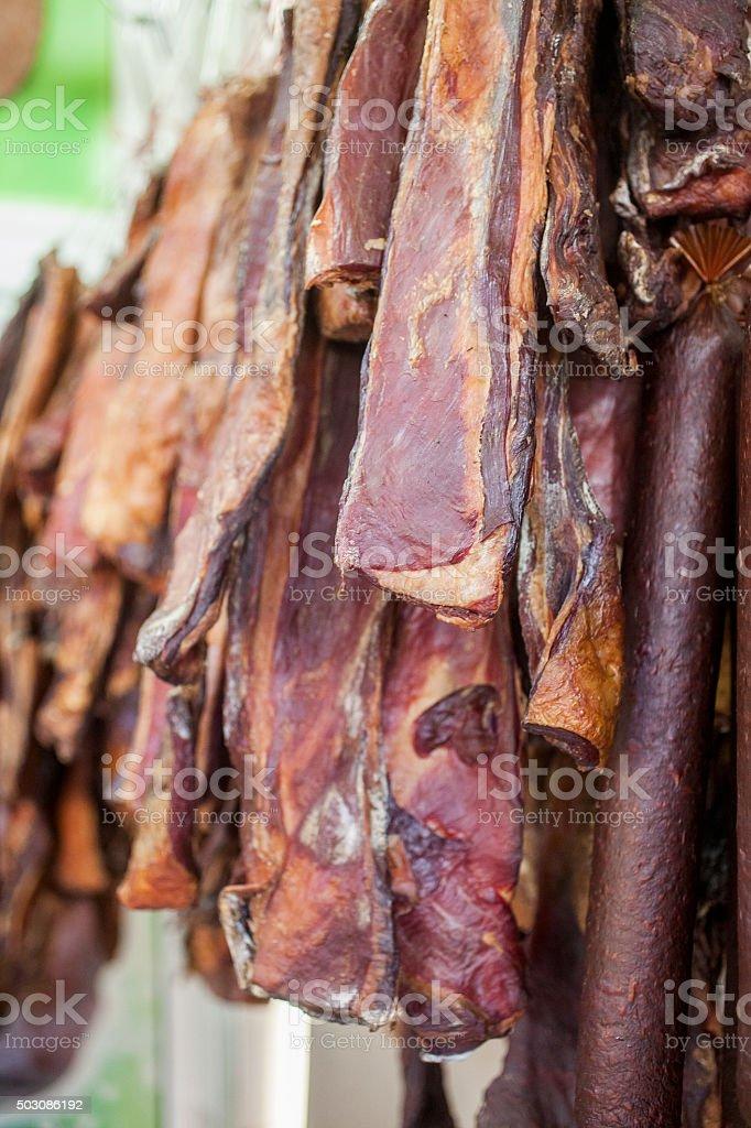 dried beef stock photo