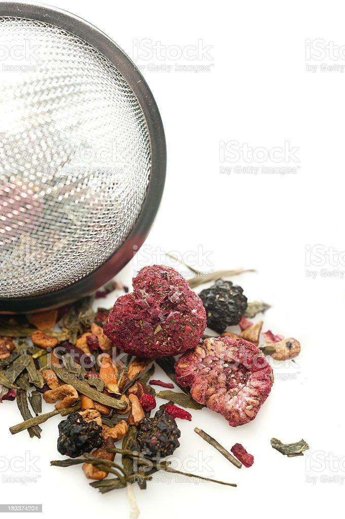 Dried berries herbal tea stock photo