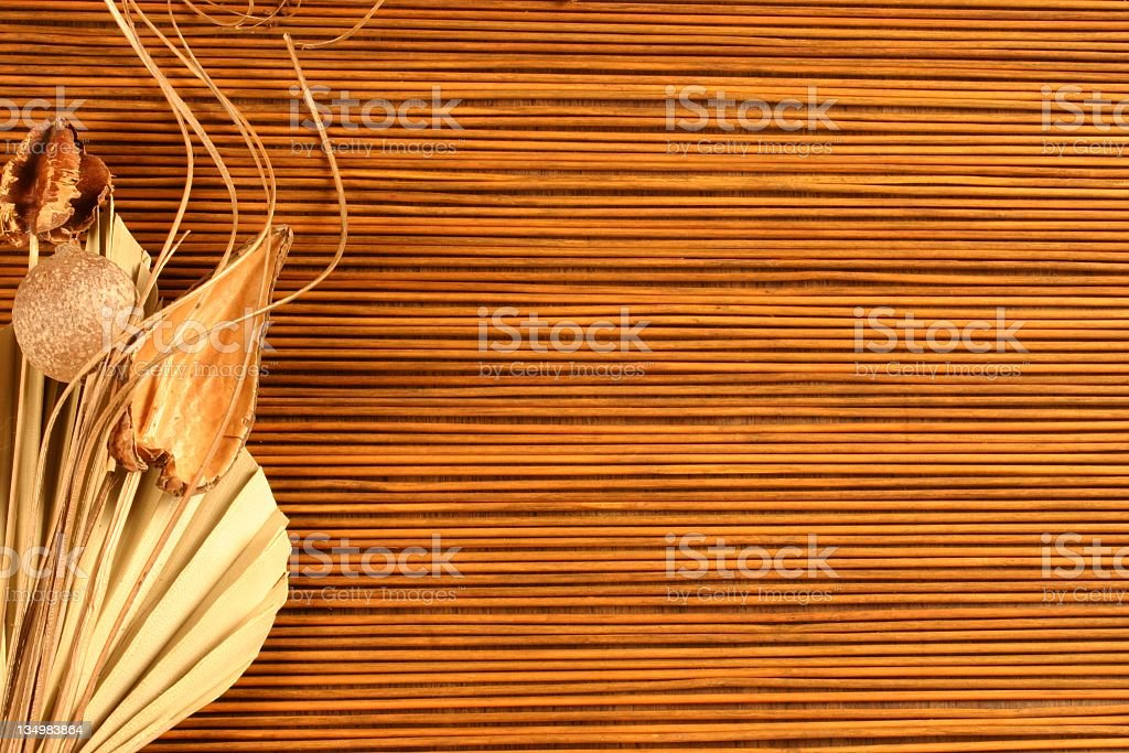 Dried Botanicals on a bamboo background 2 royalty-free stock photo