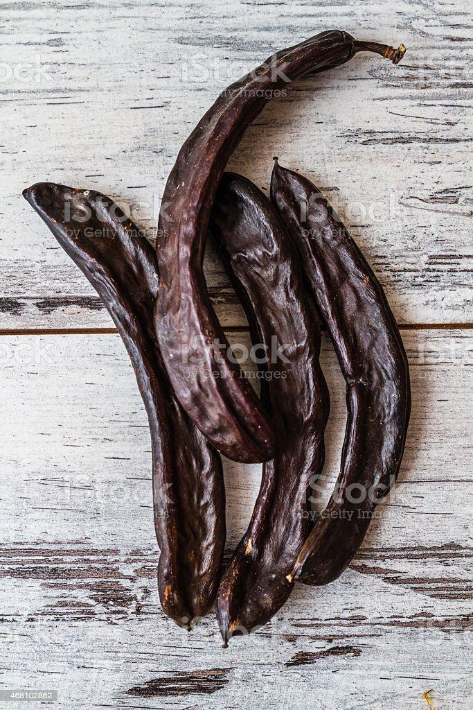Dried Carob Pods stock photo