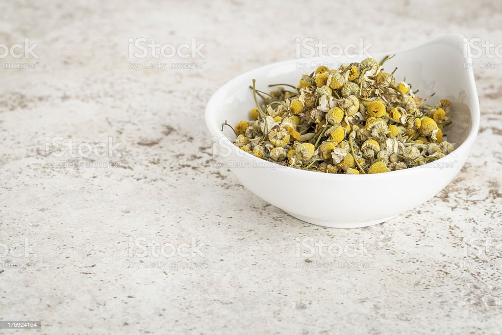 dried chamomile flowers royalty-free stock photo