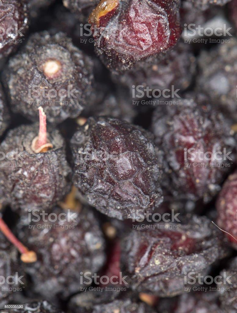 dried cherries. close-up stock photo