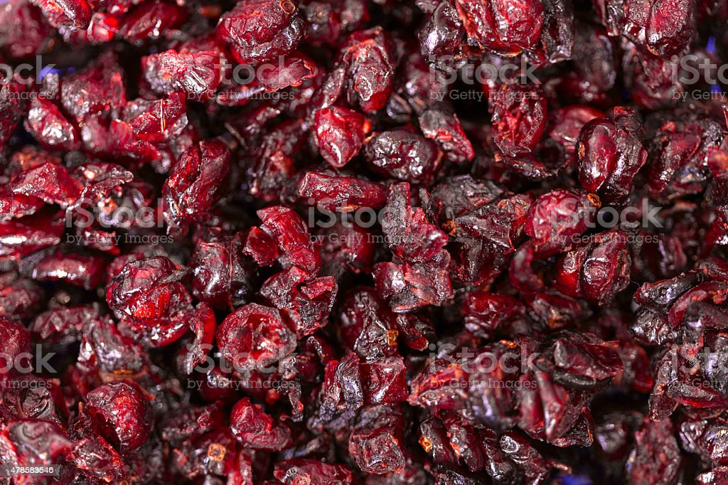 Dried cherry. Food background stock photo
