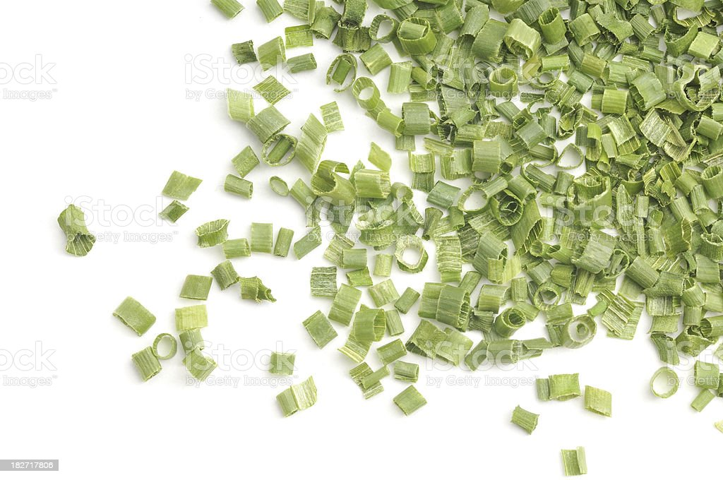 Dried Chives Scattered royalty-free stock photo