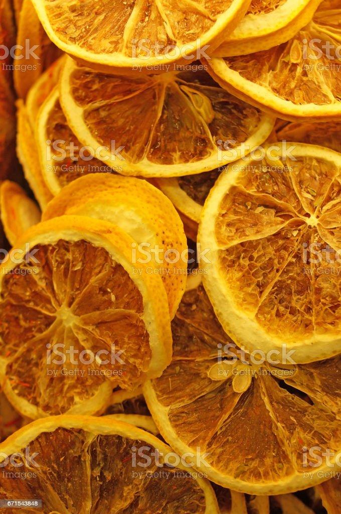 Dried citrus stock photo