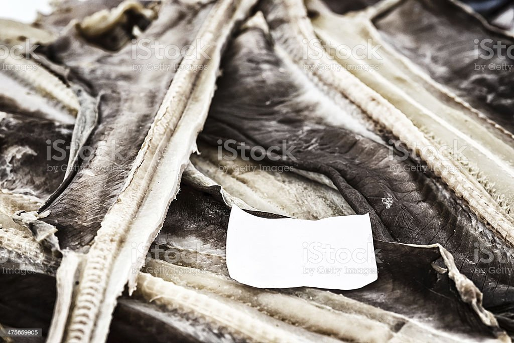 Dried cod  , Madeira. stock photo