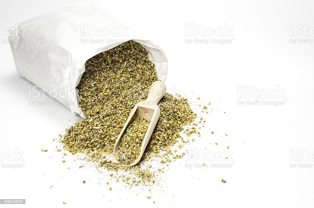 Dried common yarrow stock photo