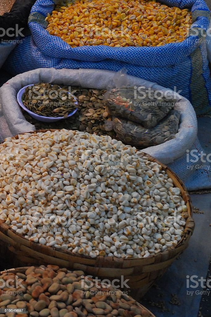 Dried Corn and Grains royalty-free stock photo