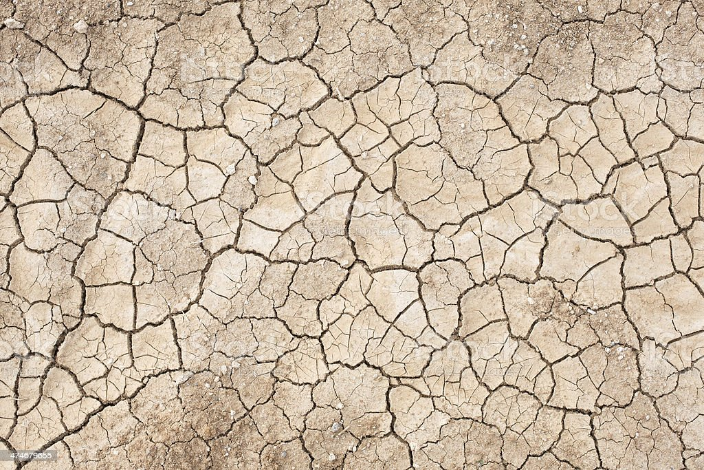 Dried cracked dirt stock photo