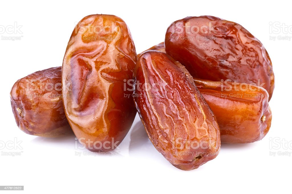 Dried Dates in close-up stock photo