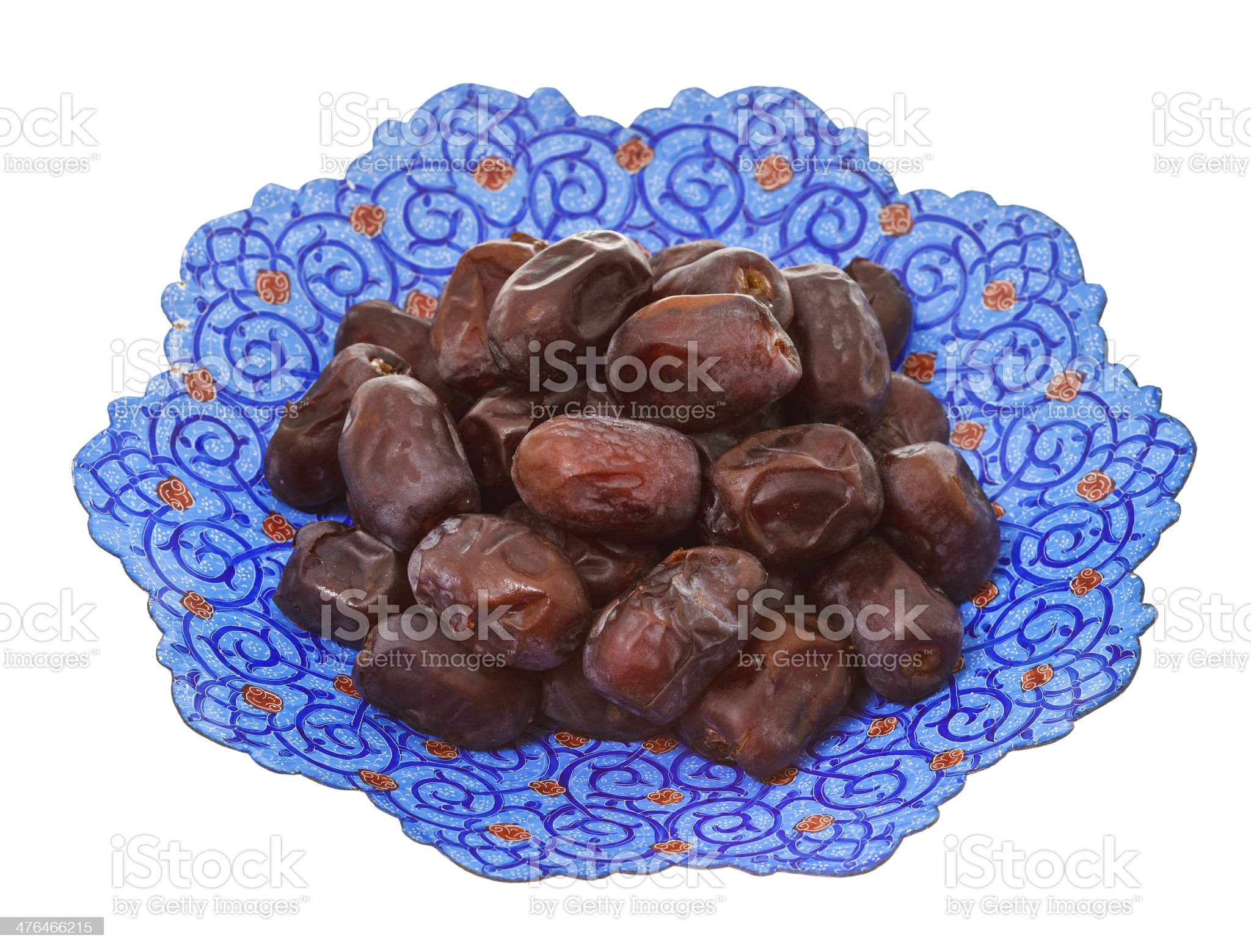 dried dates on iranian plate royalty-free stock photo