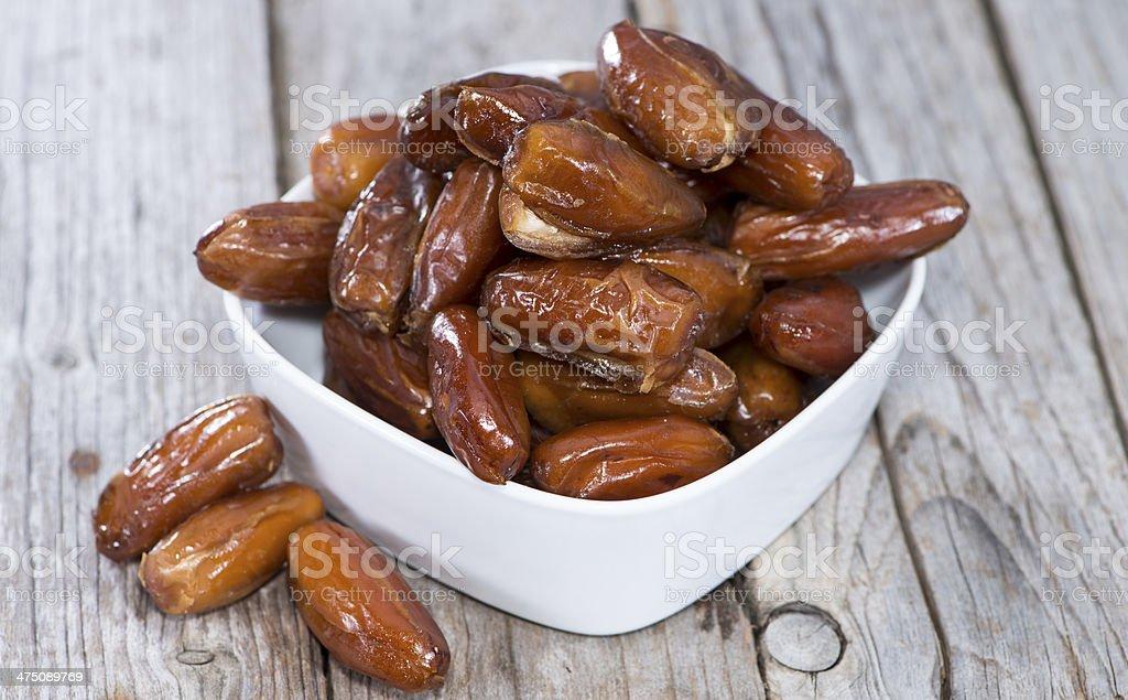 Dried Dates (close-up shot) stock photo