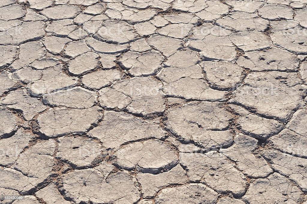 Dried earth stock photo
