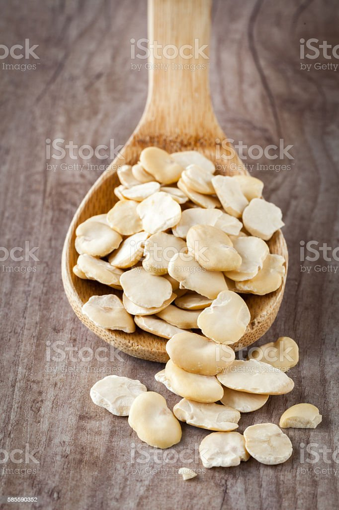 Dried fava beans stock photo
