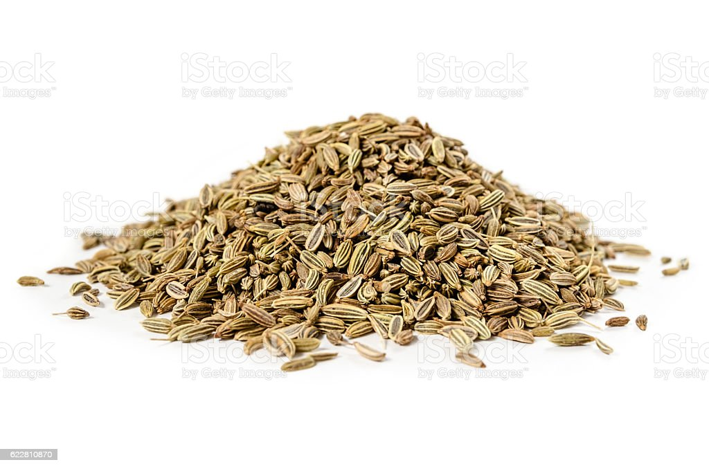 Dried Fennel Seeds isolated stock photo