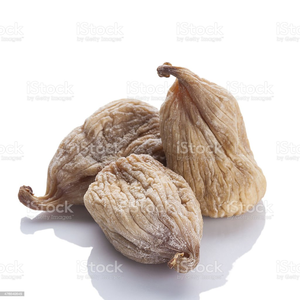 dried fig on white background royalty-free stock photo