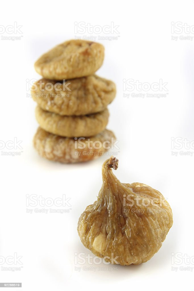 dried figs isolated, soft focus royalty-free stock photo