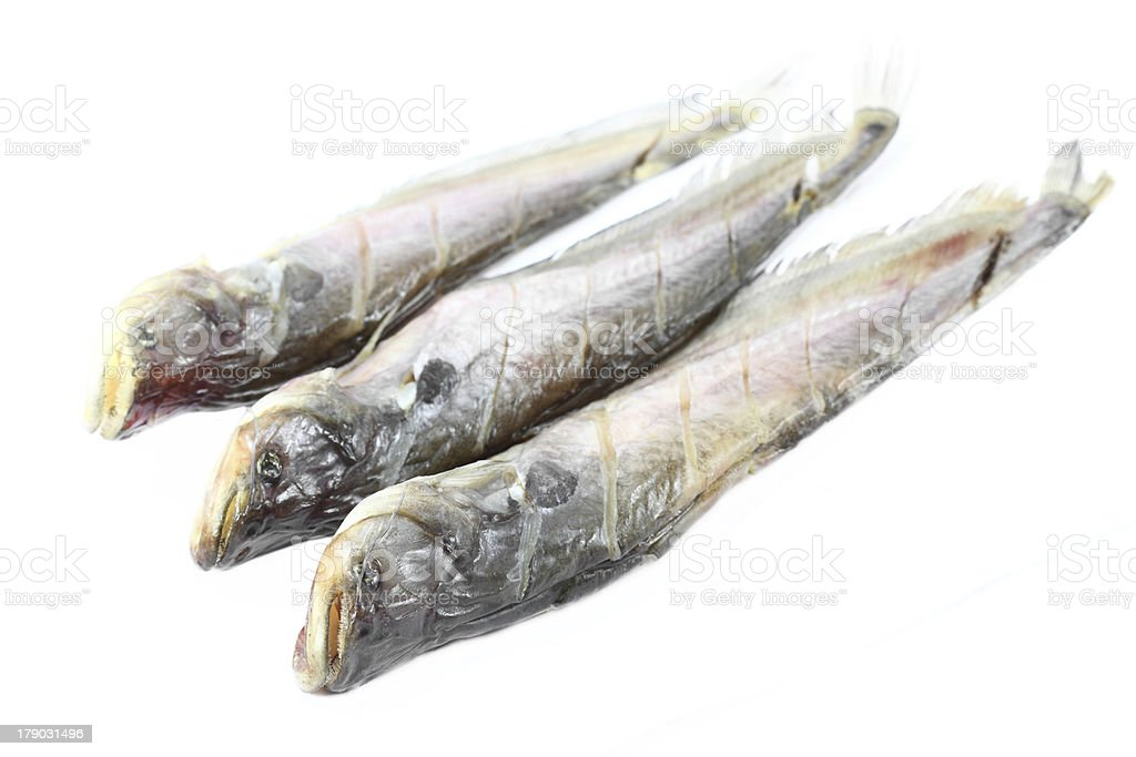 dried fish royalty-free stock photo