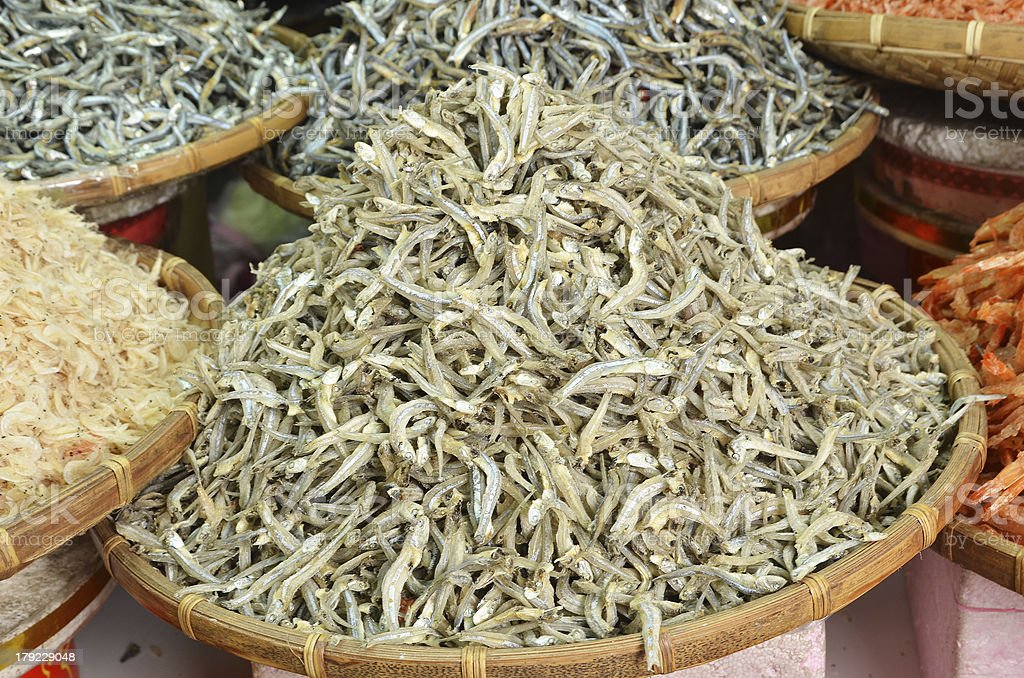 Dried fish royalty-free stock photo