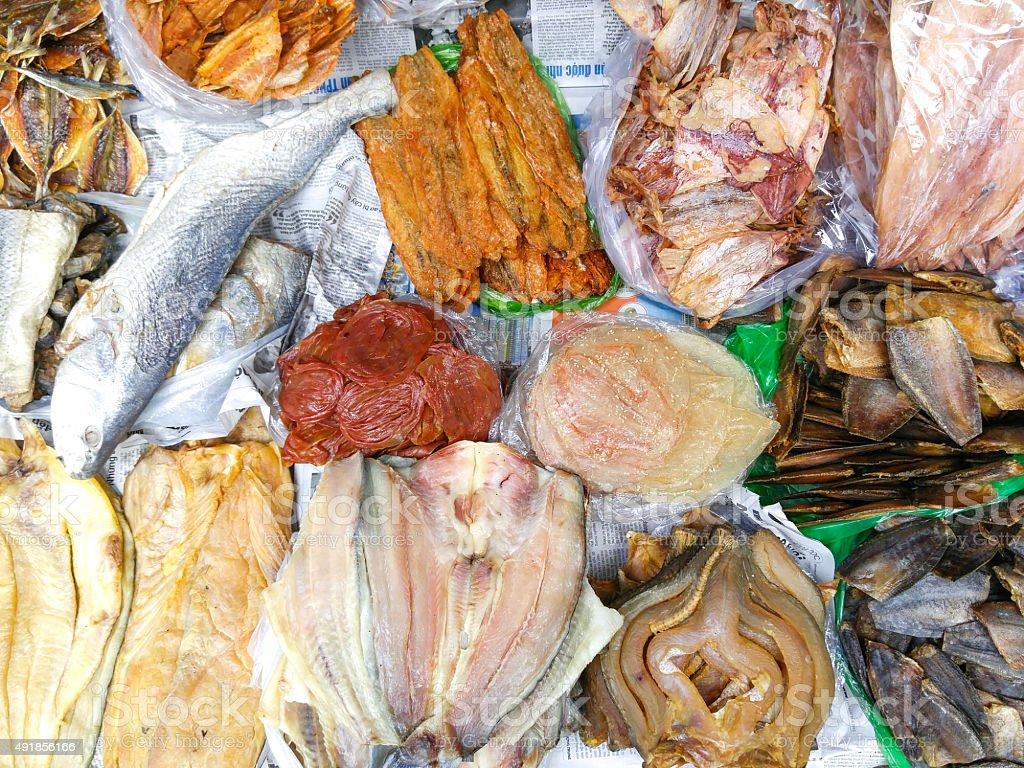 dried fish stock photo