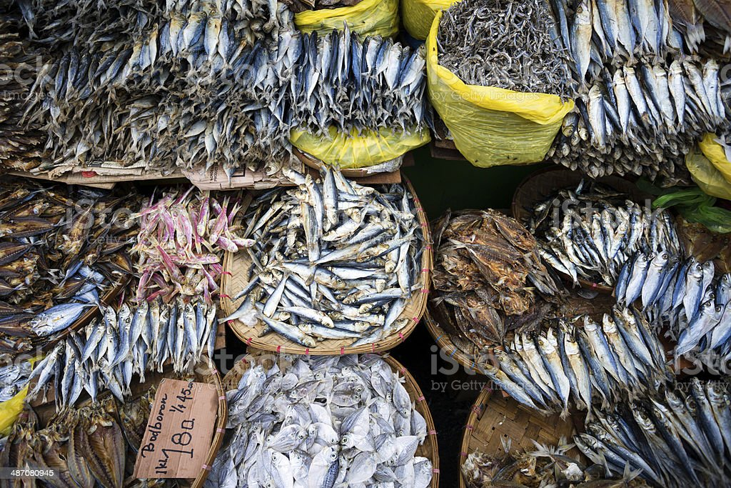 Dried Fish Seafood royalty-free stock photo