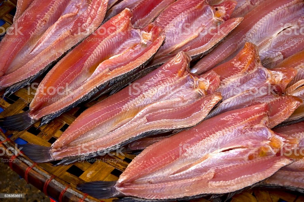 Dried fish,close up stock photo